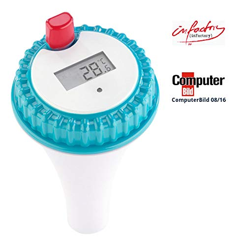 infactory Zubehör zu Funk Poolthermometer: Wassertemperatur-Sensor für PT-300 (Teich Thermometer mit Fühler)