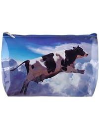 Tigapaw® - Neceser para niño o adulto, diseño de vaca, 18 x 14 cm, color azul