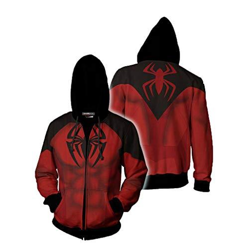 Superhelden Kostüm Individuelle - T.M.R.W. Clothing Superheld Kostüm. Spiderman Zipper Shirt. Sweatshirt Pullover. Herrenhemd A-XL