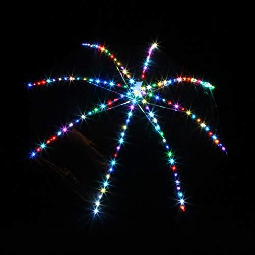 Tanz Requisiten Bauchtanz LED Regenschirm Bunt Beleuchtung Leistung Bauchtanz Props Mehrfarbig, One Size