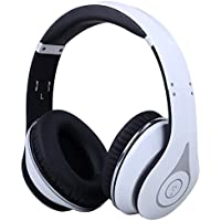 Over Ear Bluetooth Headphones - August EP640 - Enjoy High Quality Sound from your Mobile or Tablet Without Wires [White]]