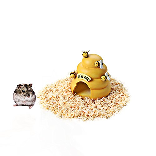 HongYH Hamster Haus, Ratten Höhle Versteck für Reptilien, Kunstharz Hamster Betten, Hamster Käfig Zubehör für Kleintiere Chinchilla Hamster Ratten Reptile Eidechse Gecko Spider, Biene