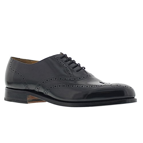 Barker Mens Glasgow Black Leather Shoes 9 UK