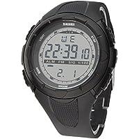 SKMEI 5ATM Impermeabile Moda Uomo LCD Digital cronometro cronografo Data dell