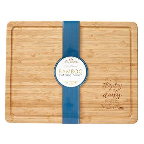 Cutting Board Bamboo Give Us This Day Bamboo-bar-board