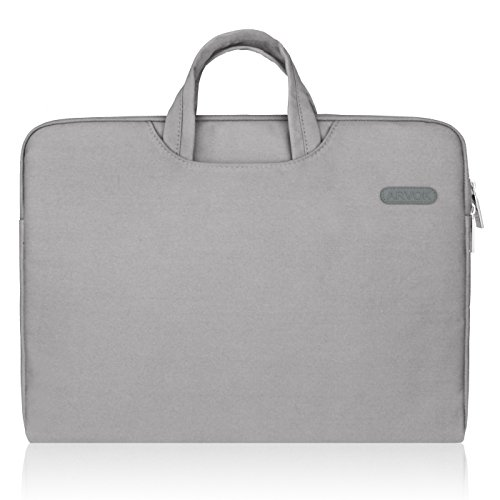 Arvok 1717.3 Pouces Housse avec Poignée pour Ordinateur Portable Sacoche Pochette PC en Toile de Protection Ordinateur pour Macbook Pro Retina/ASUS/Dell/HP/Lenovo/Tashiba/Sony - Gris)