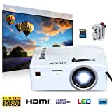 SLB Works Brand New Mini Home Cinema Theater 1080P HD Multimedia Projector TV/ AV/ USB /TF/ HDMI/ PC