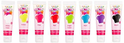 FunCakes Edible FunColours, Gel food colour Set - 8 Stück