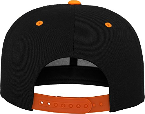Flexfit Classic Snapback 2-Tone Kappe, Mehrfarbig, one size Black/Neonorange