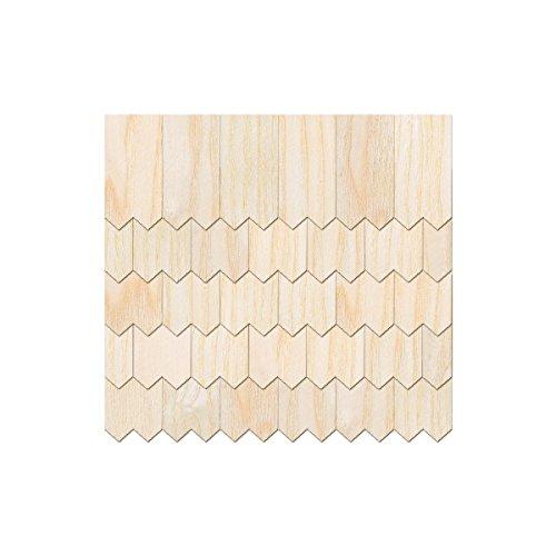 Placage en bois véritable Helle bardeaux – Crochets en Métal Forme – Tailles et de la quantité Sélection, Lot de 500, 40mm x 20mm