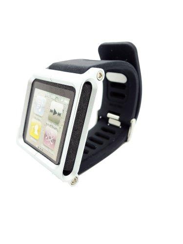 Produktbild Hoso Multi-Touch Aluminium-Armband Tasche für Apple iPod Nano 6. Generation 8GB 16GB (Silber) OEM