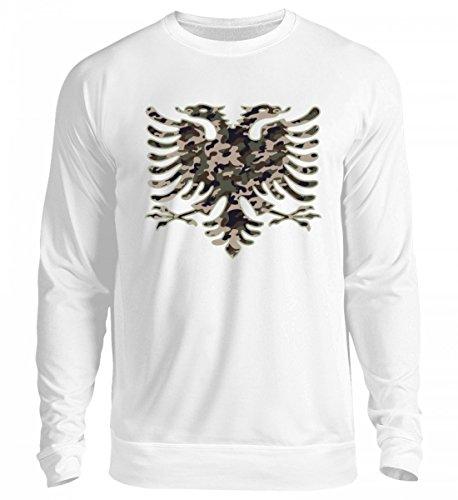 Hochwertiger Unisex Pullover - Albanien Camouflage Flagge Albanien Albanischer Adler Geschenk Albanische Fahne Shqiptar Ländershirt (Flagge Camouflage)