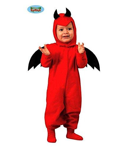 Baby Teufel - Kostüm für Kinder Gr. 86 - 98, Größe:92/98 (Mario-kostüm Für Baby)