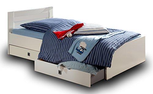 Wimex Babyzimmer Set Jalta, bestehend aus Kleiderschrank, Bett und Schreibtisch, Liegefläche 90x200 cm, Weiß
