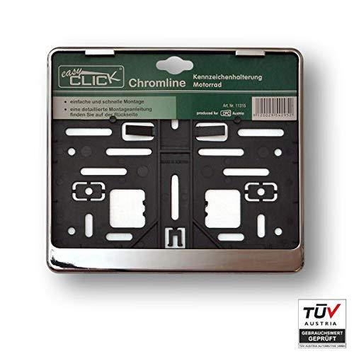 EASY CLICK 11315 Kennzeichenhalter, Chrom, 21.70 x 19.40 x 1.20 cm
