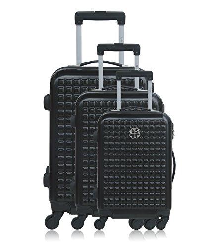 Les P'tites Bombes Set di valigie, nero (nero) - BD-12205