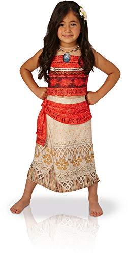 Rubies Vaiana Deluxe Costume, Disfraz infantil, Rojo/Beige, M (5-6 años, 116 cm) (630512-M)
