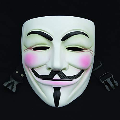 LYMASK Halloween Maske V for Vendetta Mask Erwachsene/Kinder Anonymous Maske Vendetta Halloween Karneval Kostüm Guy Fawkes Maske (Guy Fawkes Kostüm Kinder)