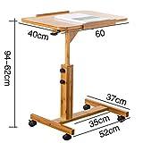 YIFNJCG Laptop-Tisch Sofa Nachttisch Betttisch höhenverstellbar robuster Laptopständer Schreibtisch (größe : 40 * 60cm)