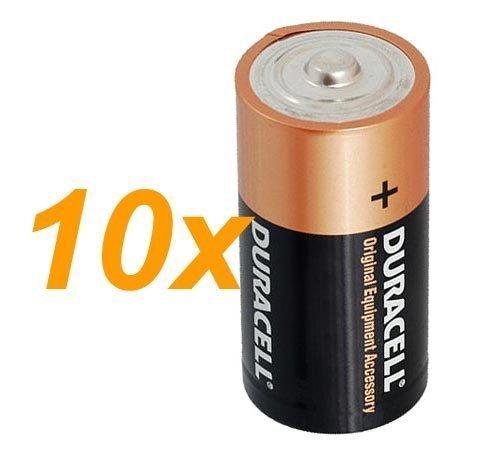 10 x Duracell 1,5 V Baby C/ LR14/ AM2/ 4014/Alcaline Batterie