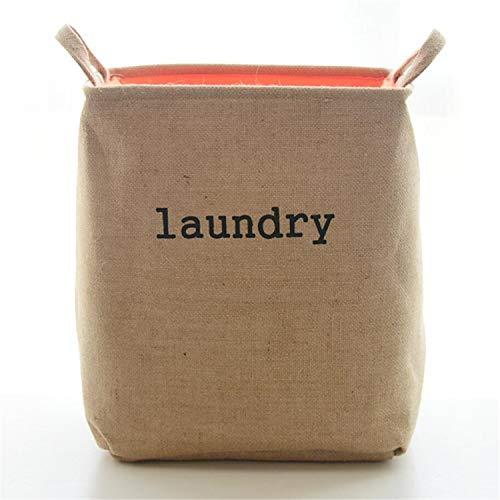 DROHE Baumwolle Hanf Verdickung Gefüttert Lagerung Barrel Trockenreinigung Shop Hand Schmutzige Kleidung Korb Home-40 * 36 * 26 cm