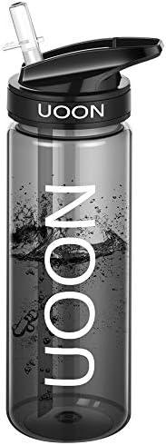 UOON Borraccia Sportiva 750ml/24oz, Bottiglia d'Acqua a Prova di Perdite con Una Spazzola per la Pulizia,