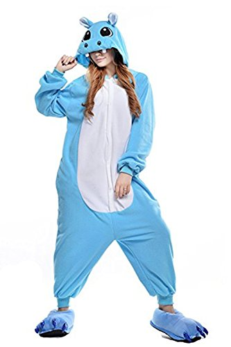 Mystery&Melody Erwachsene Hippo Pyjamas Unisex Cosplay Kostüme Flanell Overalls Party Kostüme