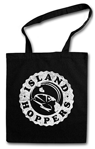 Tv-shopping (ISLAND HOPPERS LOGO Hipster Shopping Cotton Bag - Tom TV Selleck Hawaii Retro Kult Magnum)