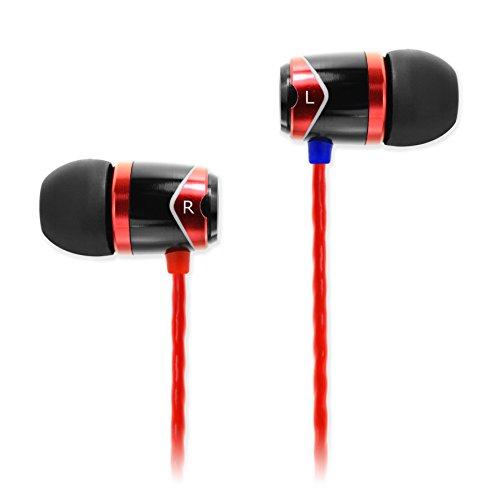 Soundmagic E10-BKRD - Auriculares in-ear, rojo