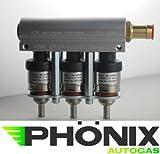 Phönix Autogas Hana Gold Einspritzdüse Einspritzrail 3-Zylinder Alu Rail inkl. Injektoren KME