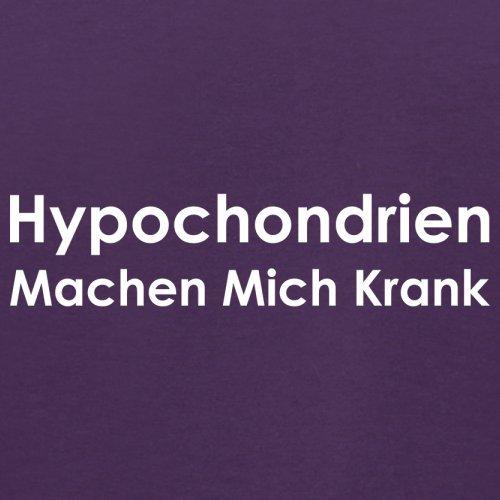 Hypochondrien machen mich krank - Herren T-Shirt - 13 Farben Lila ...