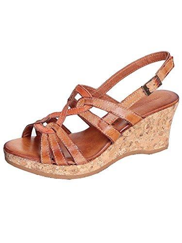 Marion Spath , chaussures compensées femme Marron - Natur/Orange