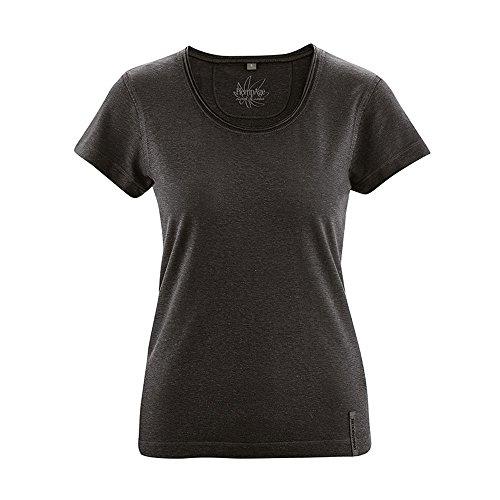HempAge Damen T-Shirt Breeze aus Hanf und Bio-Baumwolle Black