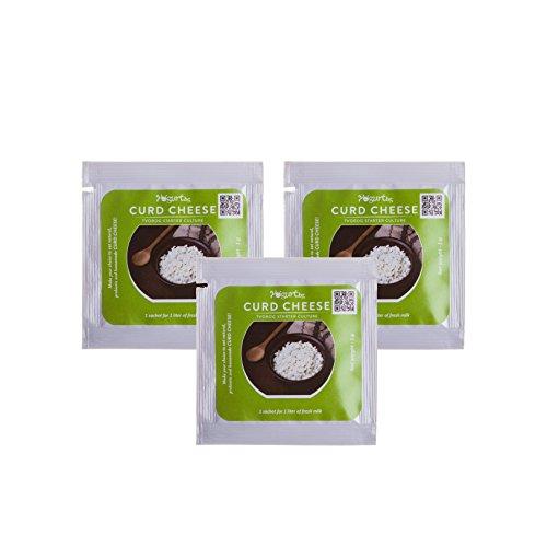 Pack de 3 sachets Tvorog caillebotte Yogurt Starter Culture - pour la fabrication en maison - 3 litres Probiotic produit laitier