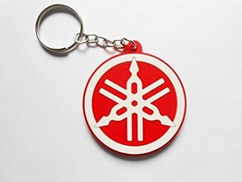 Porte clefs YAMAHA red/white color key ring - motocross - quad - jet-ski