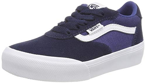 Vans Jungen Palomar Sneaker, Blau (Suede/Canvas) Dress Blues/Navy Vg6), 36.5 EU (Vans Blue Suede)