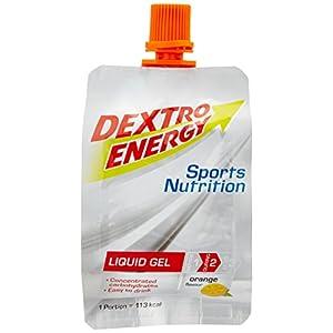 Dextro Energy Sport Gel   6 x 60ml Liquid Gel Orange zum Trinken   Ideal fürs Workout   Liquid Gel mit Dextrose   Glutenfrei & Laktosefrei