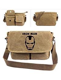 Marvel & DC Mochila de Lona para Hombro, Superman/Iron Man/Thor/