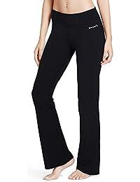 Baleaf Fitness Flare Joga Pantalon pour Femme Long 248fc70fdc0