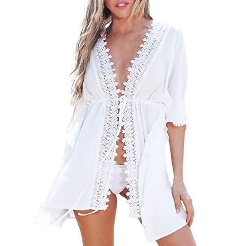 VICGREY Copricostume da Bagno Donna Estate Abito da Spiaggia Mare Copricostume Parei Copri Donna Camicetta Tops Boho Bikini Cover Up Copricostume