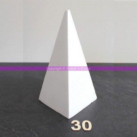 Lealoo Pyramide 4 Faces de 30 cm de Haut, Présentoir polystyrène Pro Haute densité, 25 kg/ m3