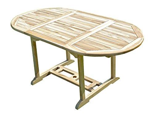 C&L JARDIN MJETASOLS Solo Table de Jardin en Teck Beige 170 x 90 x 75 cm 6/8 Chaises