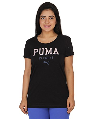 Puma Women Printed Black Tshirts