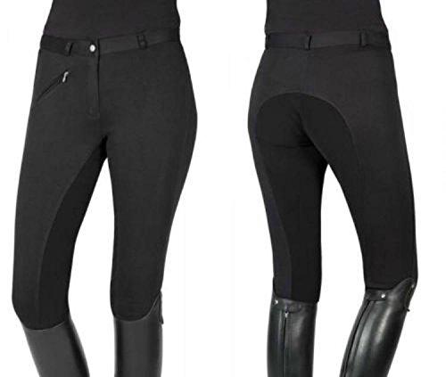 PFIFF Pantalon d'équitation pour Pantalon de Thea 13-14 Ans Noir