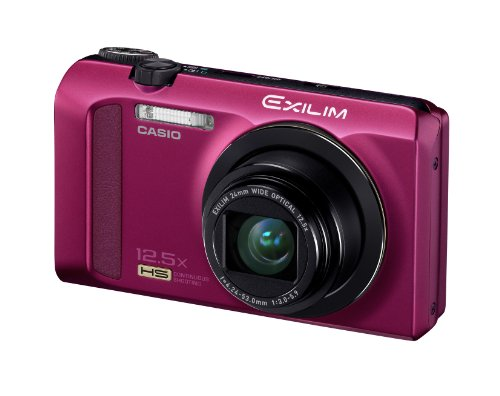 Casio Exilim EX-ZR200 Digitalkamera (16 Megapixel, 12-fach opt. Zoom, 7,6 cm (3 Zoll) Display, bildstabilisiert) purple