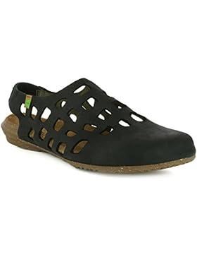El Naturalista Damenschuhe N5060 Wakataua Modische Damen Sandale mit Korkfussbett und Fersenriemchen mit Gummiszug