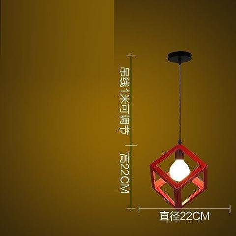 Chlqmb Industrial Wind Lampe, Kreative Persönlichkeit, Farb-Milch Tee Shop, Bar