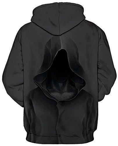 TDOLAH Sweat-shirts Femme à Capuche Pull Swag Sweatshirt Grande Taille Hiver Hoodie avec Manches Longes Assassin-4