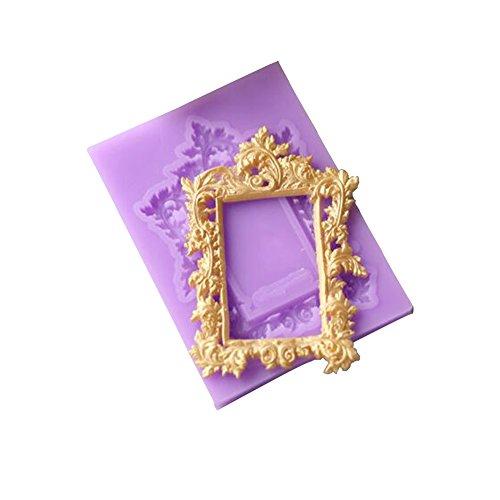 Spitze Fondant Silikon Form Kuchen dekorieren Tools Cupcake Schokolade gumpaste Clay Candy Formen Stil Nr. 4 ()