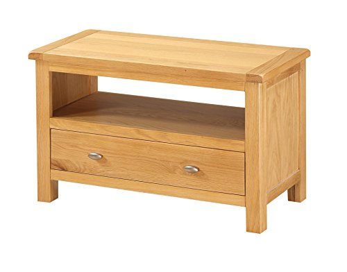 Petit meuble TV en chêne – EVEREST Petit meuble TV en chêne massif – finition : Chêne – Salon